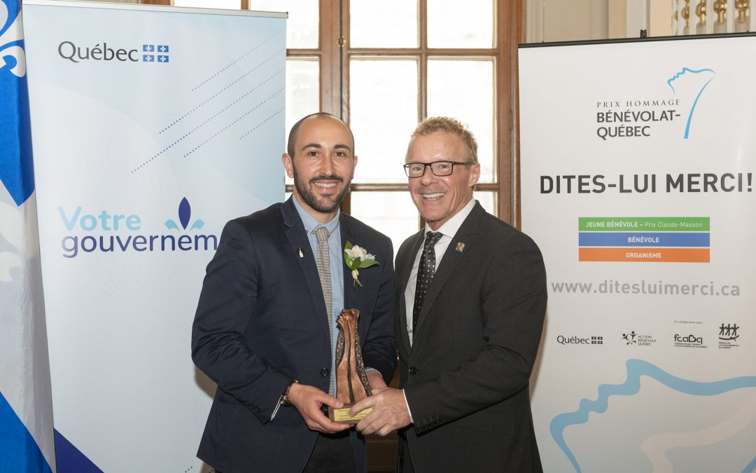 Prix hommage bénévolat Québec 2019